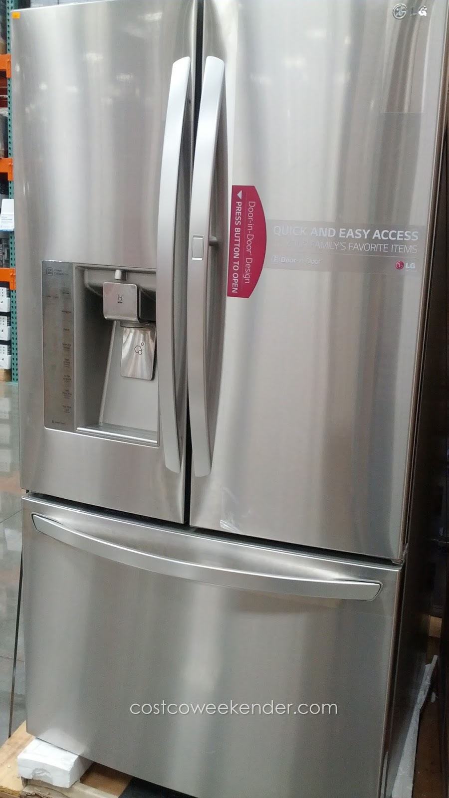 Lg Lfxs30766s French Door Refrigerator Costco Weekender