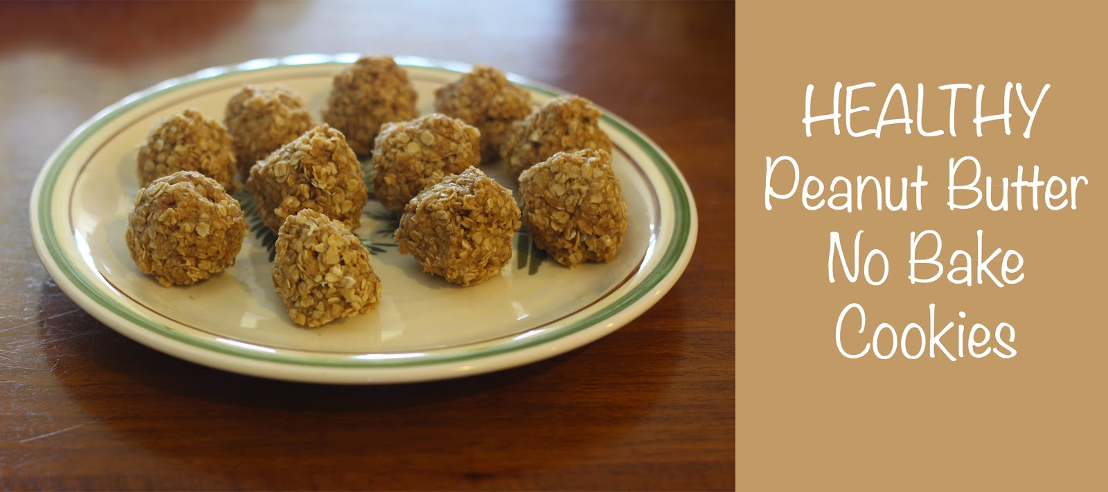 Skinny Latte Mommy: Healthy Peanut Butter No Bake Cookie Recipe