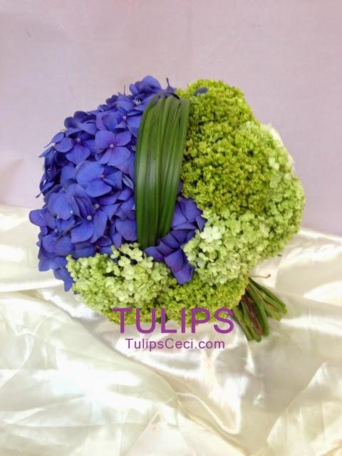 比較藍色的花球