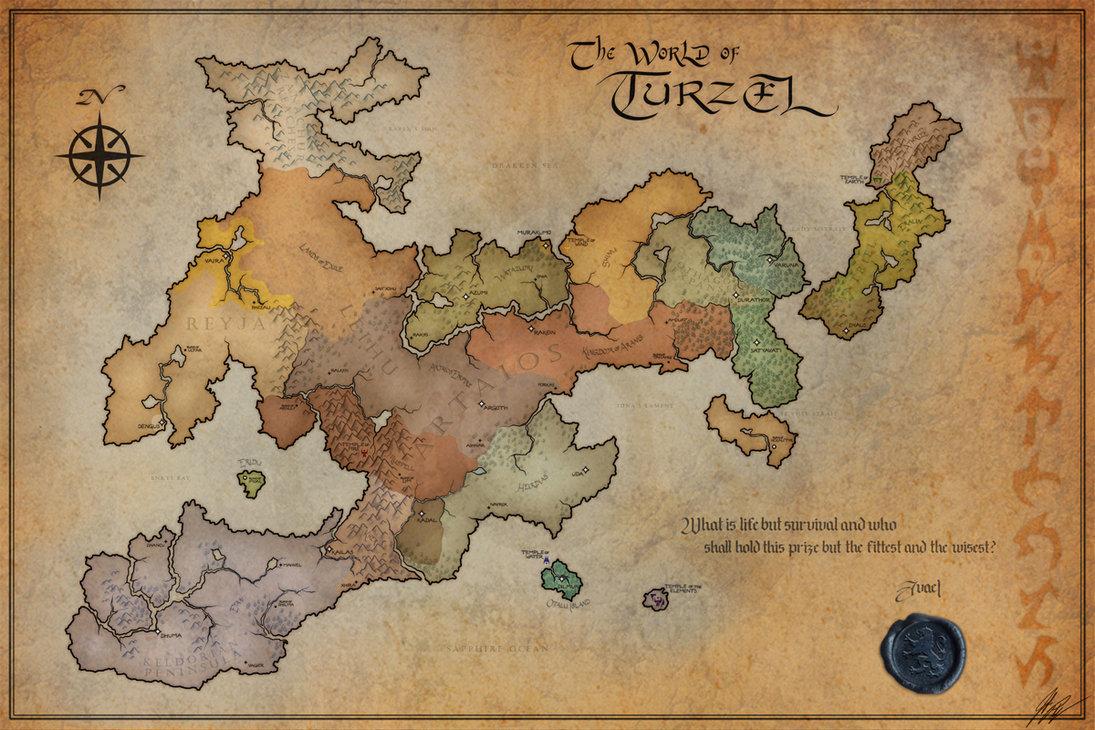 Blank fantasy map city