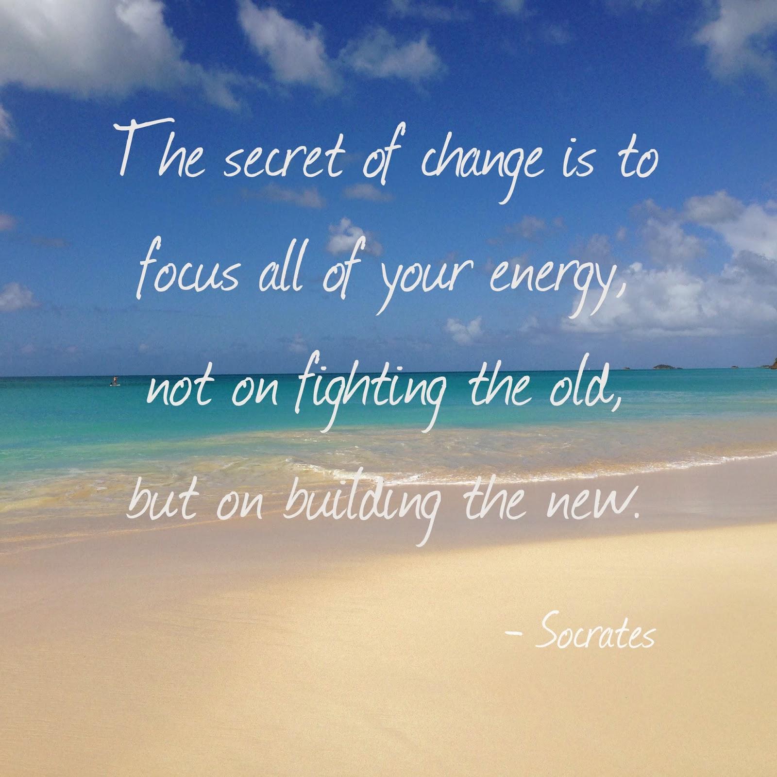 The Secret of Change quote FGK