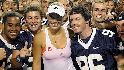 Caroline Wozniacki Rory Mcilroy Kiss Wozniacki and Rory McIlroy