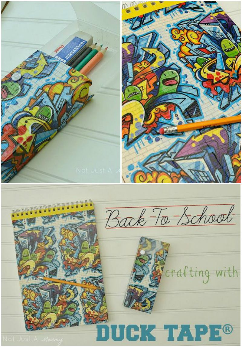 Personalize your school supplies with Duck Tape®