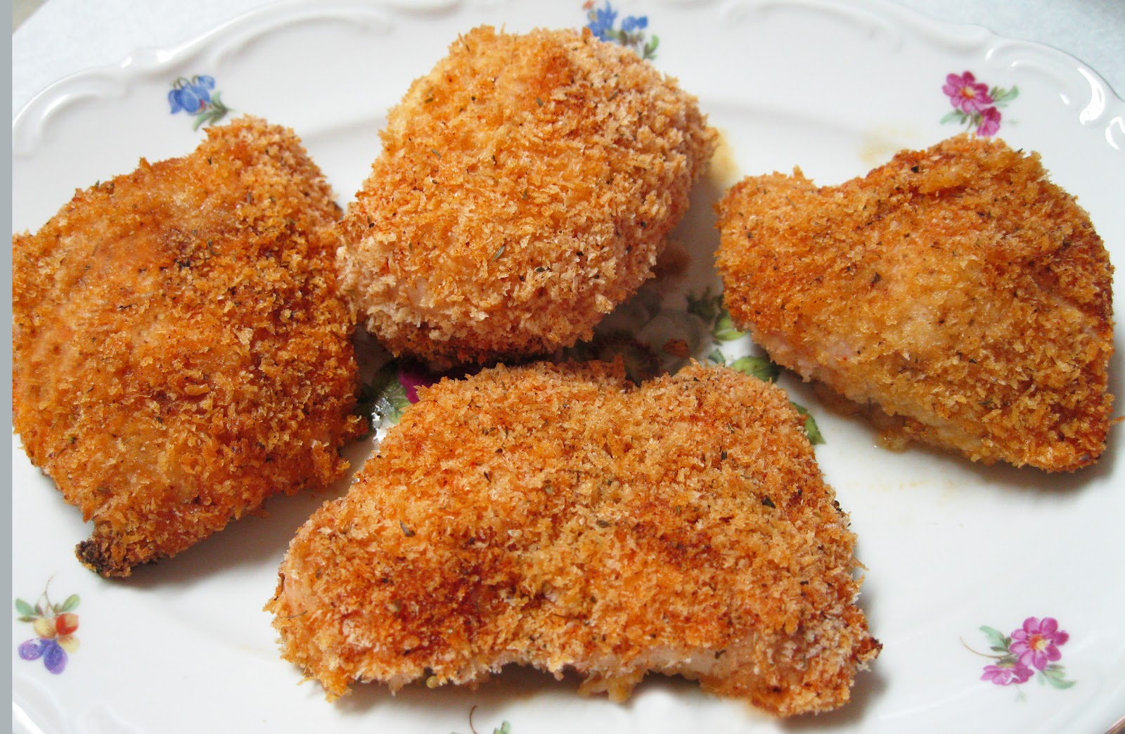 Here's another version of fried chicken using Panko bread crumbs.
