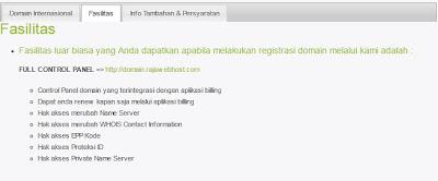 Mau Bikin Website + Hosting Murah AbizZ Ke Rajawebhost.com aja! fasilitas domain