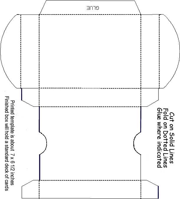 thetincat box template playing card. Black Bedroom Furniture Sets. Home Design Ideas