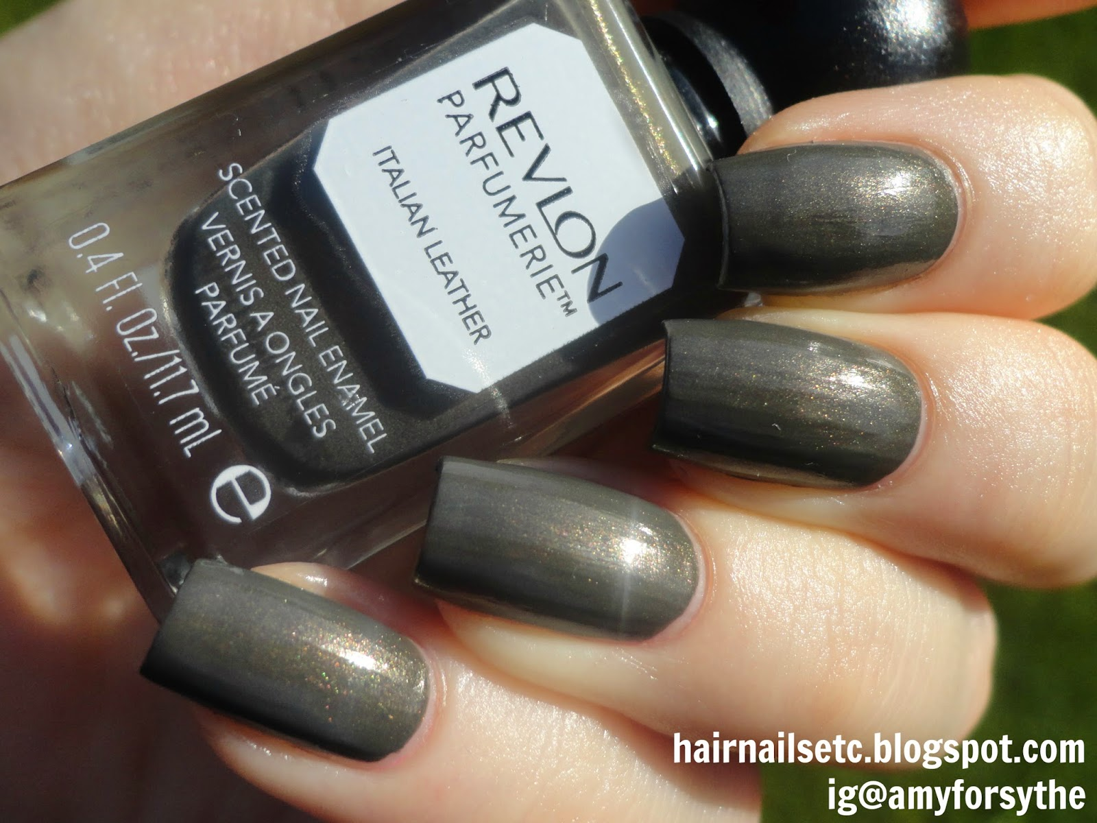 Swatch and review of Revlon Parfumerie Nail Enamel Varnish Polish in Italian Leather