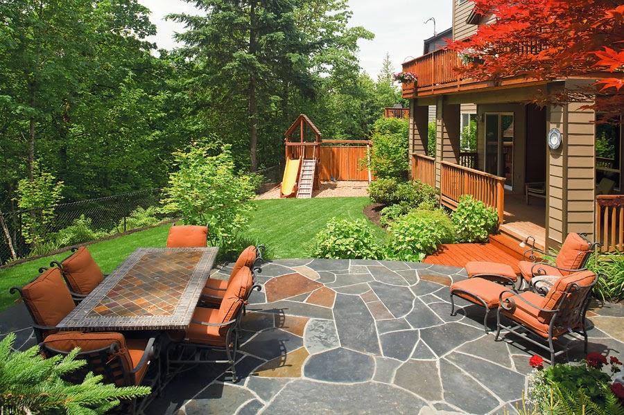 Muebles patio y jardines en color naranja patios y jardines for Ideas de patios y jardines