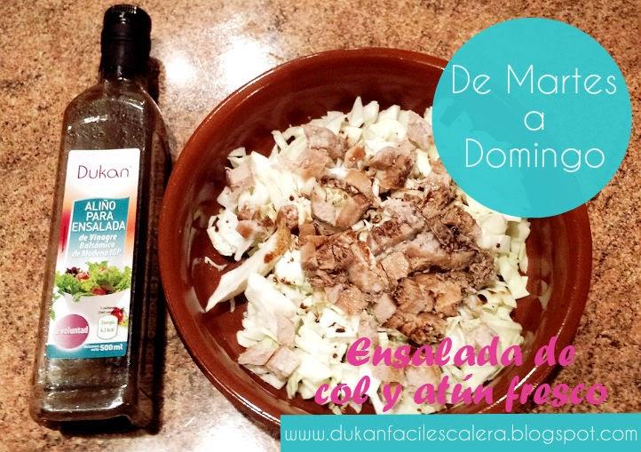 Ensalada rápida y sana para comer a partir del martes de la escalera nutricional ,el nuevo método Dukan suave