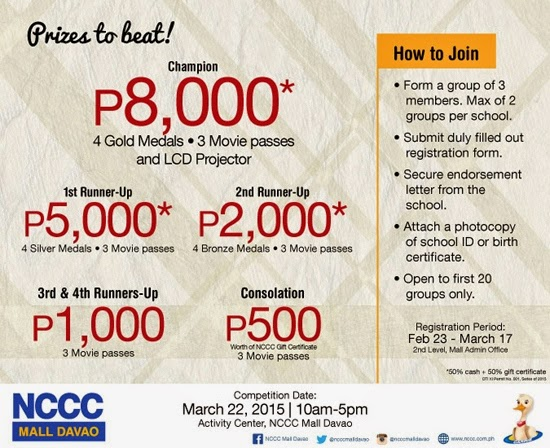 NCCC Mall Dabawenyong Henyo 2015 Mechanics Davao Region Philippines