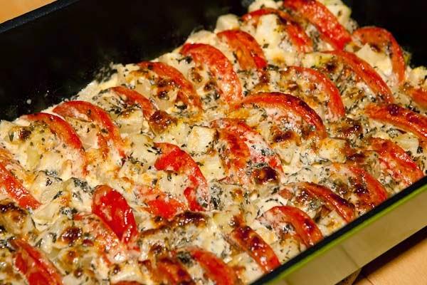 aubergine tomat gratäng