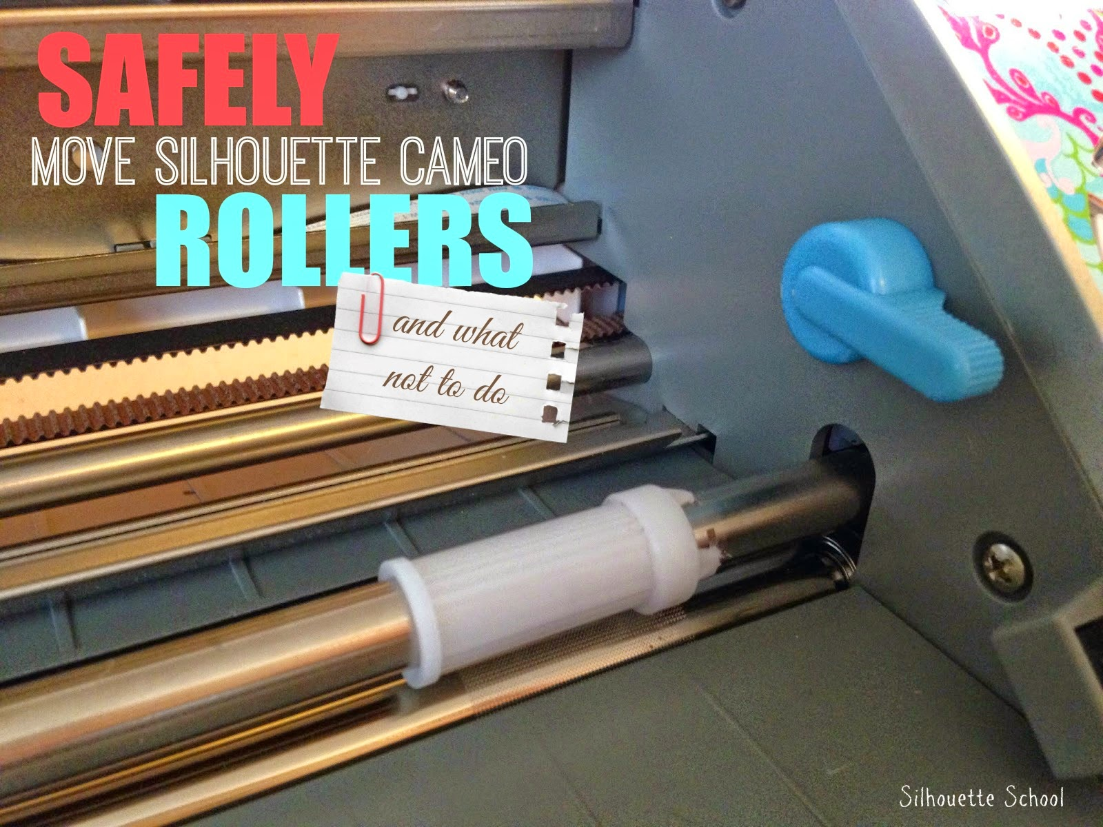 How To Move Silhouette Cameo Rollers Easily Silhouette