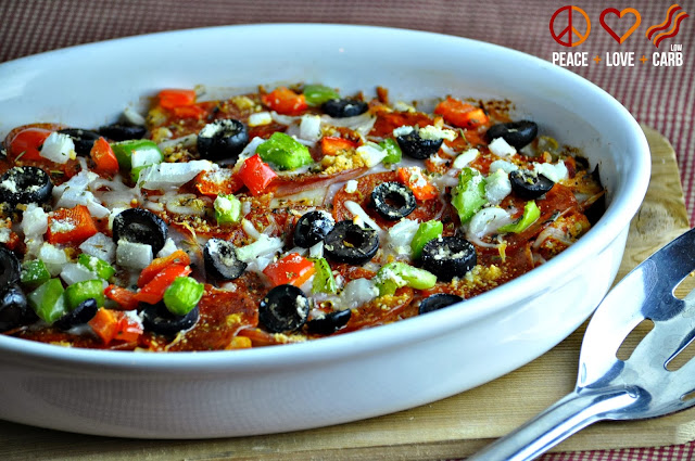 Supreme Pizza Casserole - Low Carb and Gluten Free | Peace Love and Low Carb
