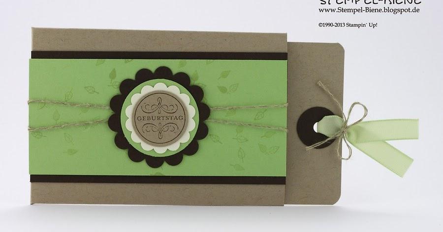 stempel biene eine verpackung f r ein gutschein. Black Bedroom Furniture Sets. Home Design Ideas