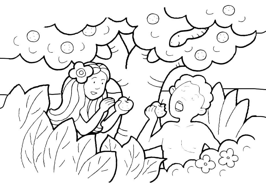 Compartiendo por amor ad n y eva for Adan y eva en el jardin del eden para colorear
