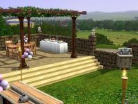 結婚式後の会食用スペース