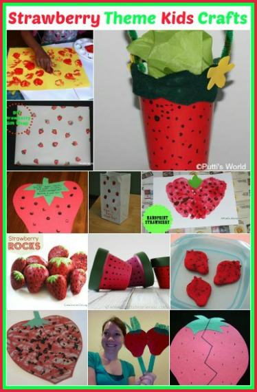Strawberry Theme Party Kids Crafts Ideas