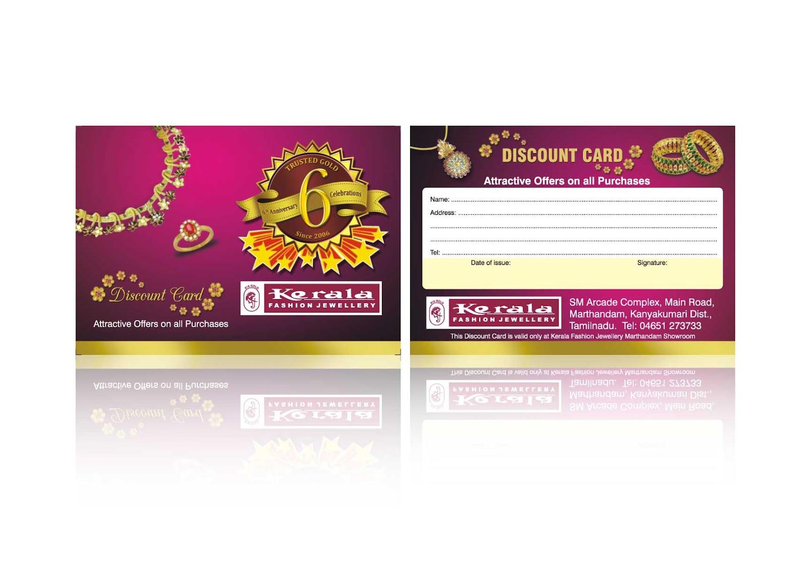 Design of discount card - Gold Discount Card Design