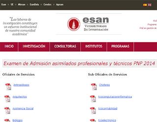 PNP ESAN Resultados exámen asimilados profesionales y técnicos (27