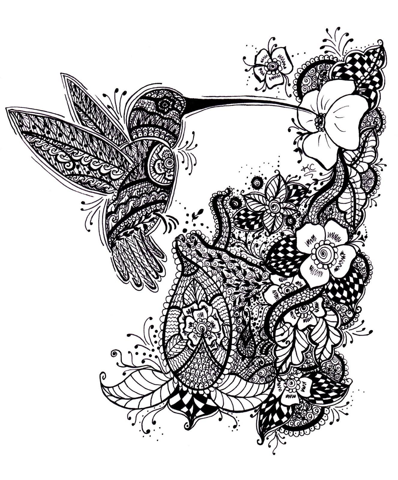Эскиз колибри черно белая тату