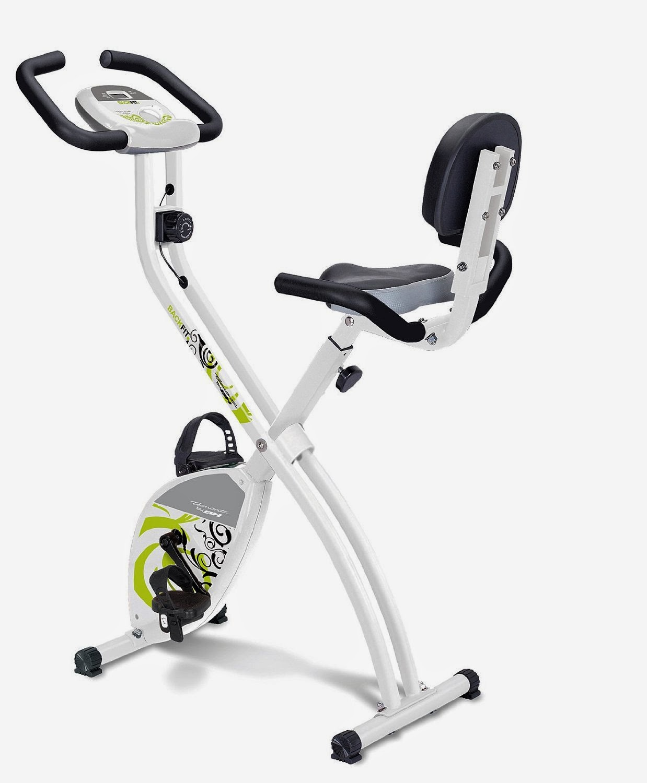 Bicicleta Estatica con Respaldo Color Blanco - Tecnovita YF91 Backfit