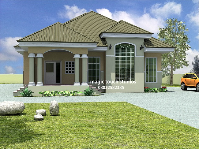 5 bedroom bungalow residential homes and public designs Four bedroom bungalow plan