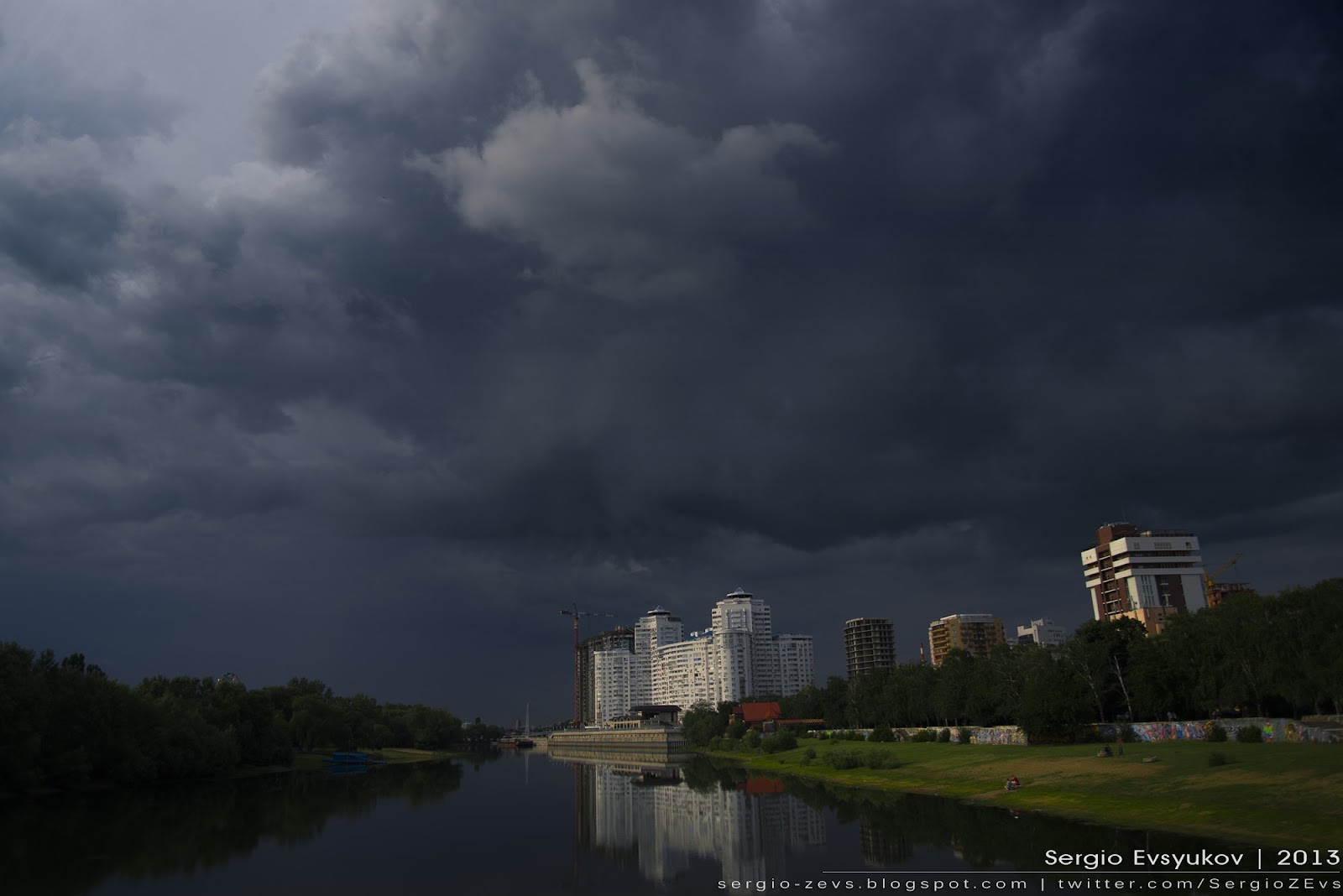 Storm in Krasnodar Russia