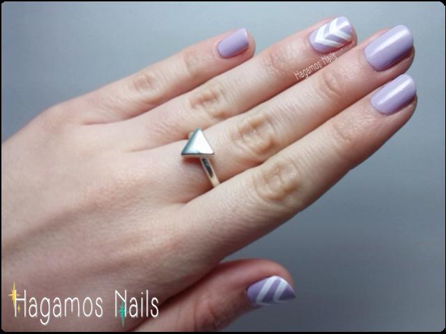 Manicura lila. Hagamos Nails