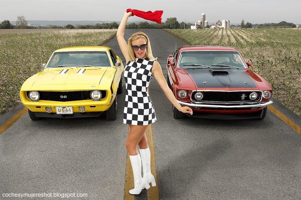 Coches Chevrolet Camaro Coches-mujeres-mustang-camaro