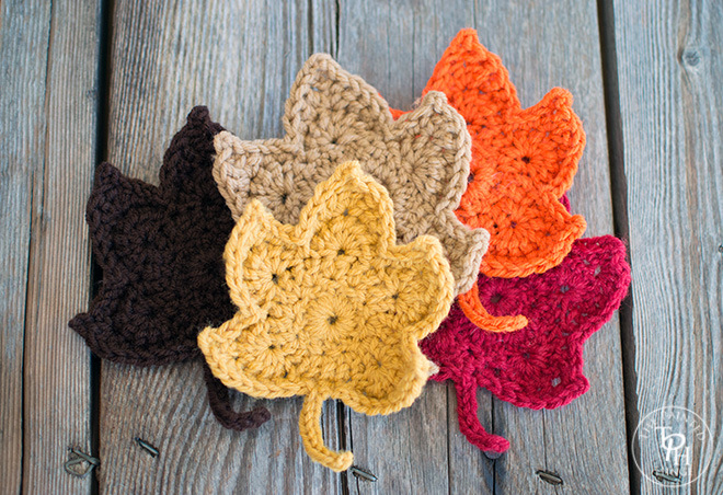 Fall Crochet Patterns : ergahandmade: Crochet Leaves + Free Pattern Step By Step