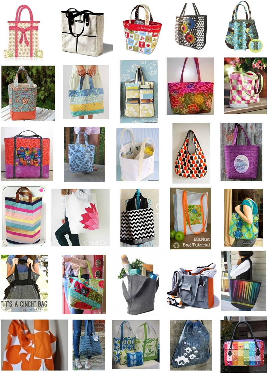 Quilting Purse Patterns Free : Quilt Inspiration: Free pattern day: Tote bags