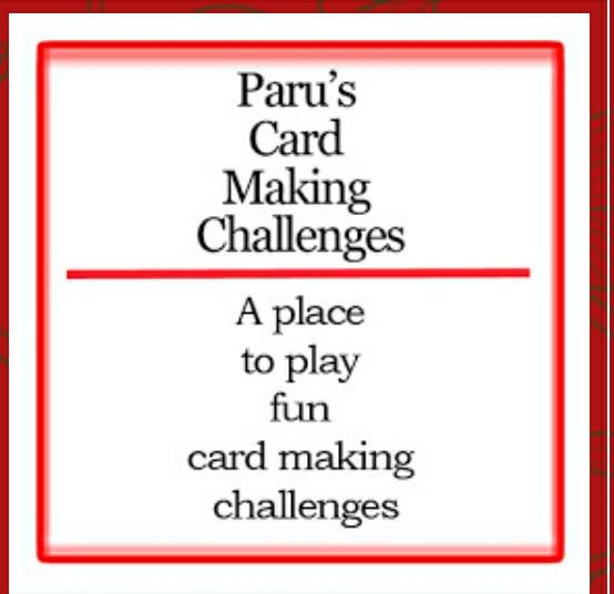 Paru cardmaking challenge