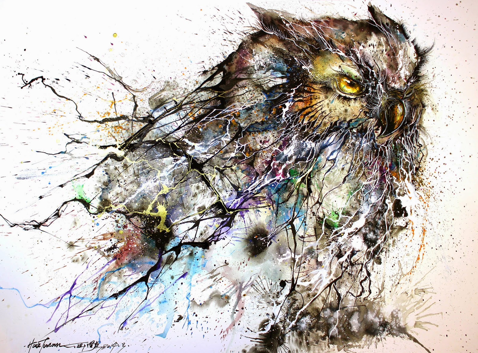 "Hua Tunan ""Night Owl"" Limited Edition Print - Available"