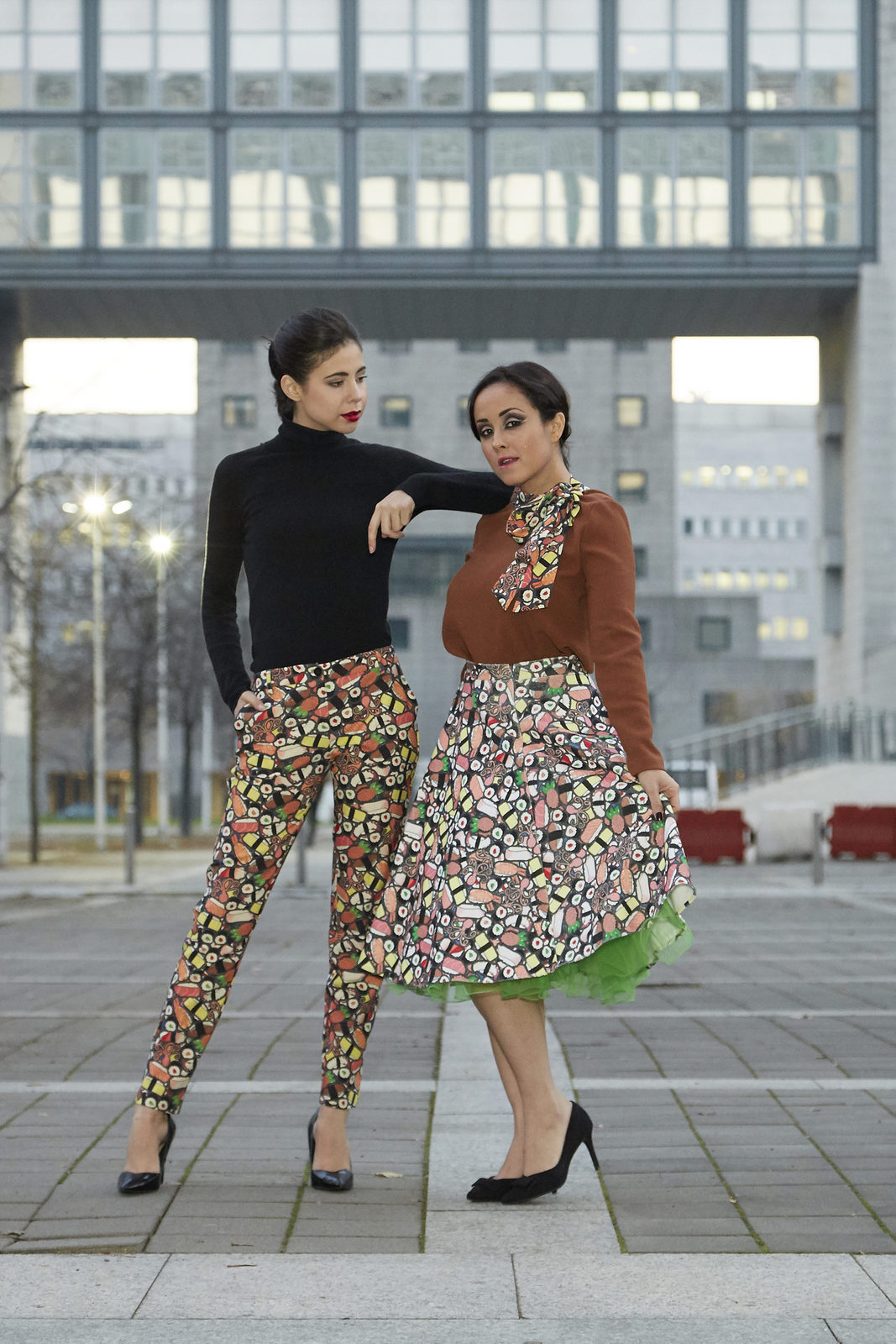 editorial, ultrachic milano, Jessica Neumann, Juliane Borges, fashion, outfit, sisters, Culture & Trend Magazine, sushi
