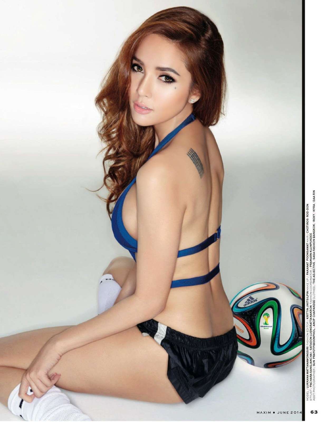 Thailand Models Hot Photoshoot For FIFA Fotaball World Cup