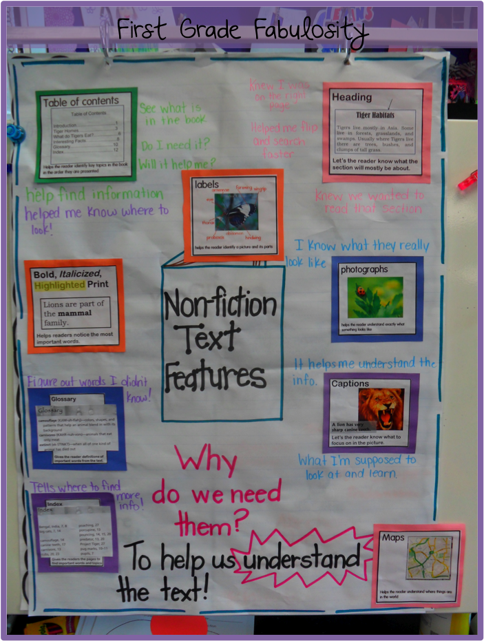 nonfiction text features activities first grade sarah s first grade snippets research writing. Black Bedroom Furniture Sets. Home Design Ideas