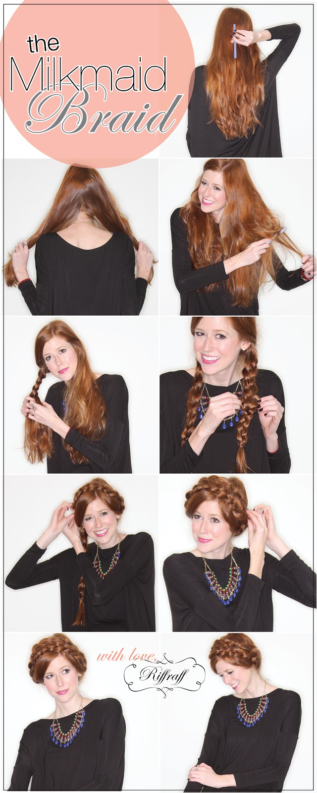 Milkmaid Braid tutorial from Riffraff