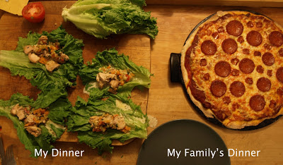 Lettuce Chicken Wraps | Pizza