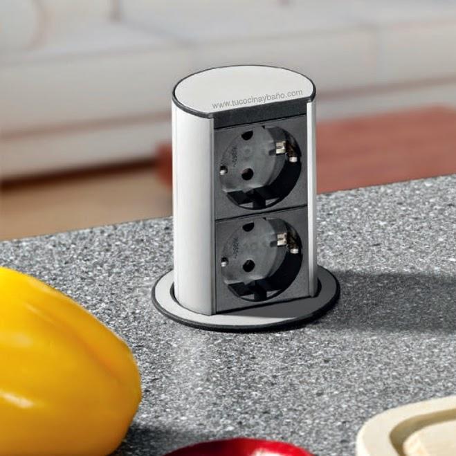 enchufe cocina extraible automatico escamoteable