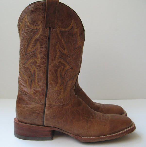 closet vintage cowboy boots s size 10 brown