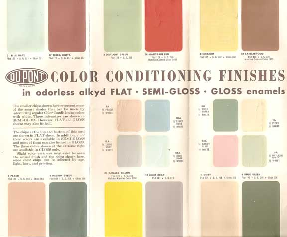 Mad for Mid-Century: Authentic Mid-Century Interior Paint Colors
