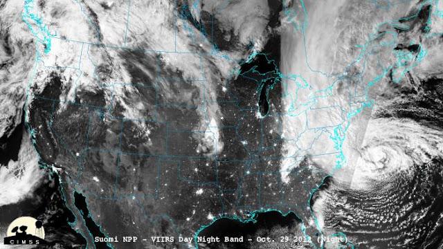 Hurricane Sandy, satellite, NASA
