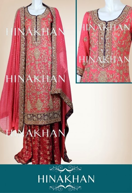 Hina Khan Latest Bridal And Formal Collection 2013-2014