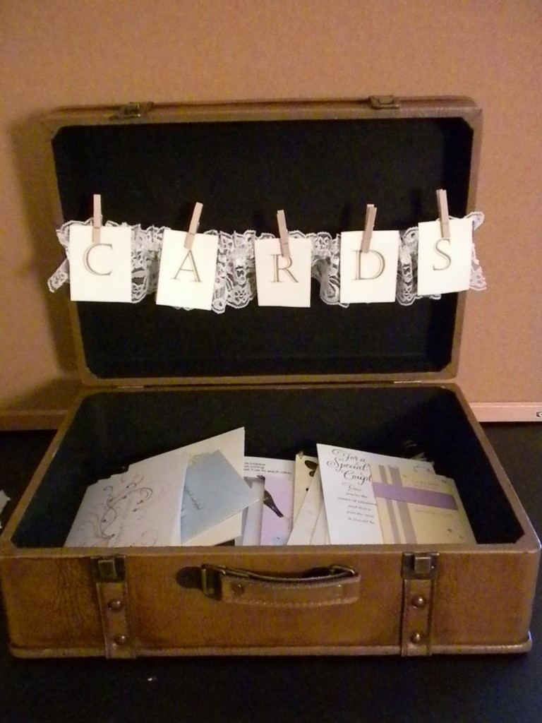... wooden chest card receptacle engagement photographs card receptacle