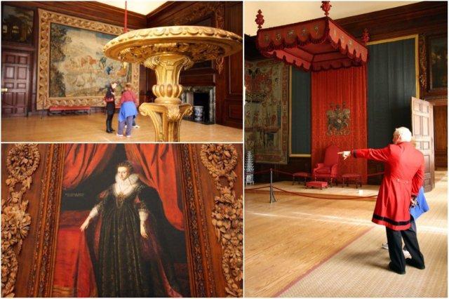 Dormitorio y Cuadro en el Palacio de Hampton Court, Londres