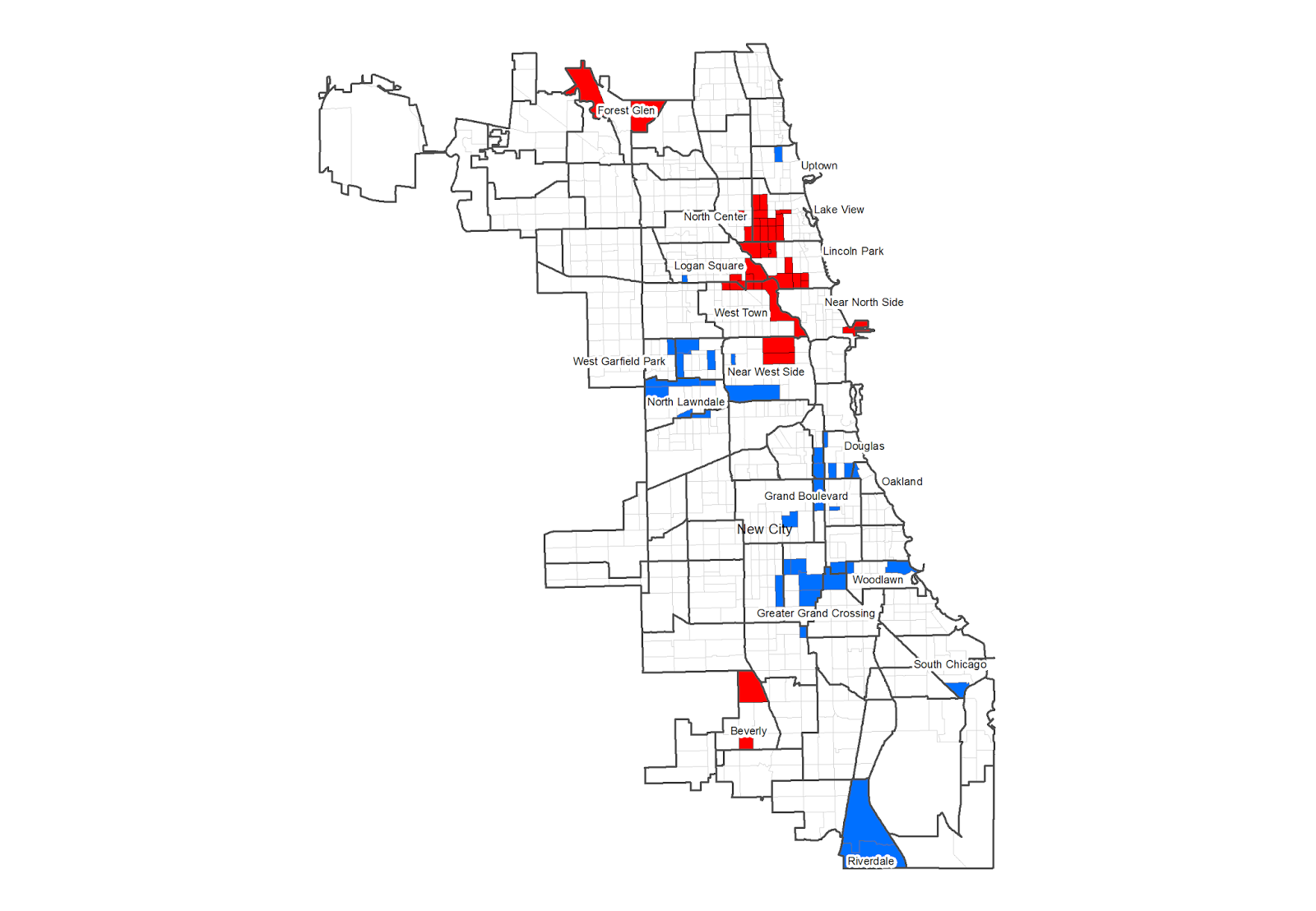 so who s in a ghetto the cheek to jowl upper money areas are much more compact than the poorest neighborhoods in blue representing 35 census tracts with