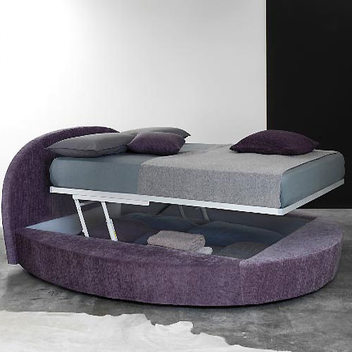 In Design Magz Round Purple Bed Furniture For Modern Bedroom Design