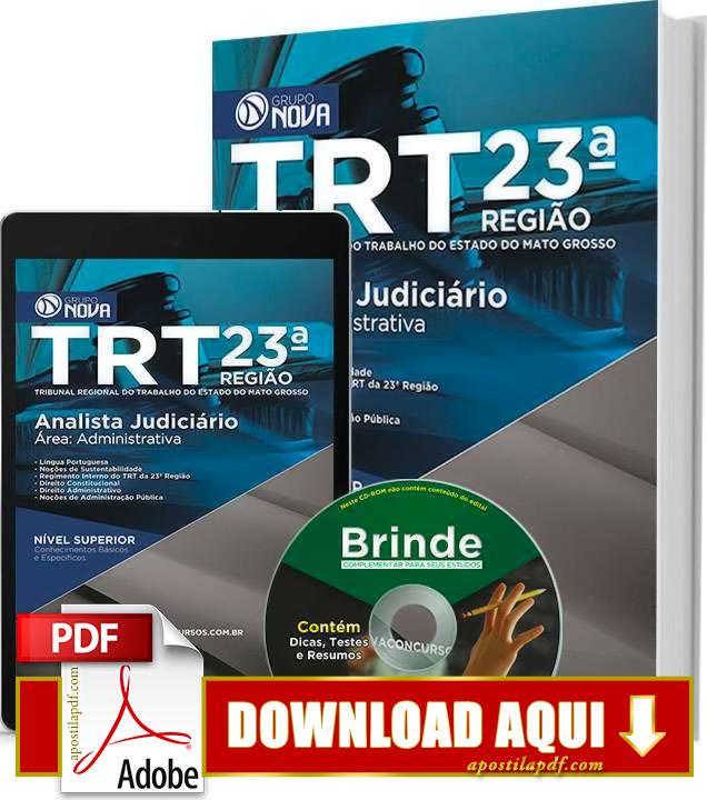 Apostila TRT MT 2015 Analista Judiciário Impressa PDF Download Grátis