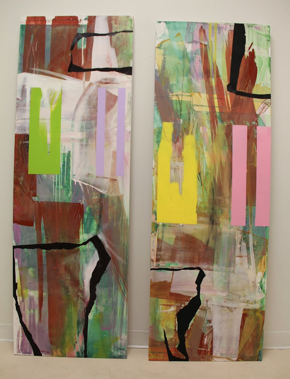 Diptych of Large Abstracts