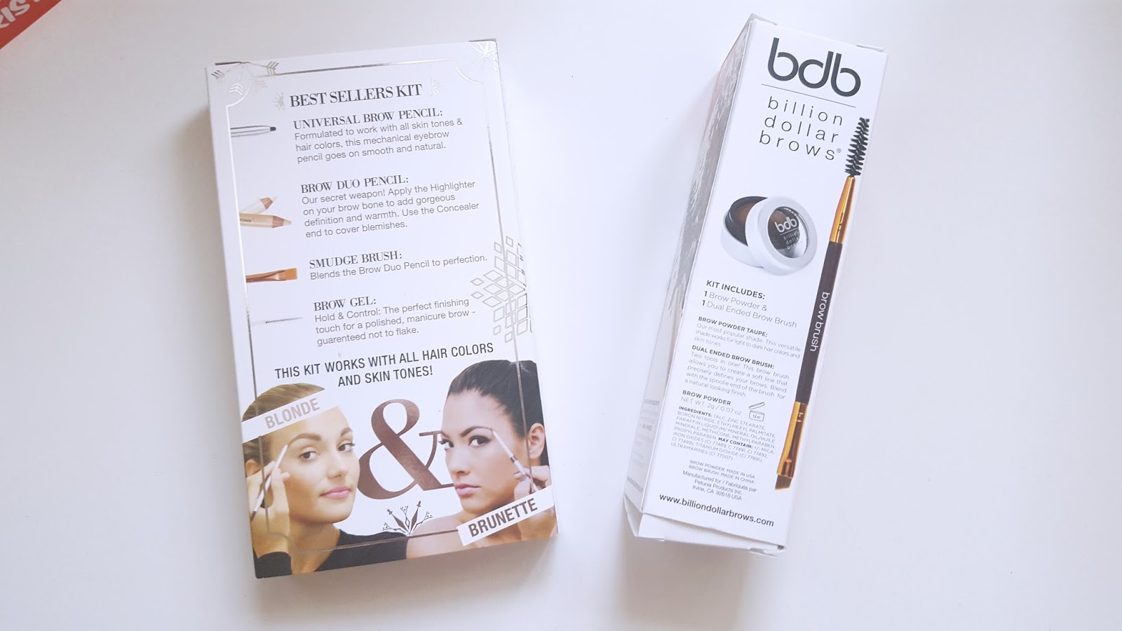 Billion Dollar Brows Best Sellers Kit 60 seconds to brilliant brows